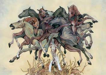 horses by AJFrena