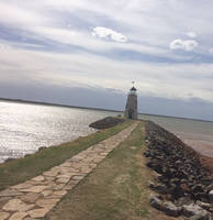 A real scenic picture of lighthouse at