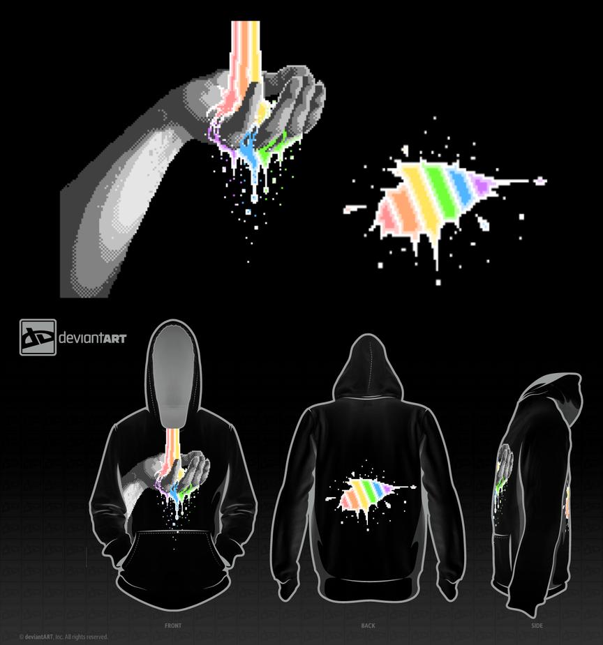 Rainbow Hand 8-Bit Entry by TabbyTwist