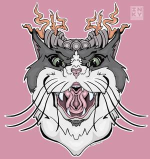 Cat Decal Sticker Design