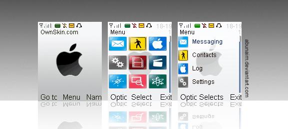 iPhone white: nokia themes S40 by abunaim