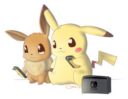 Lets Go Pikachu and Eevee by chaesu