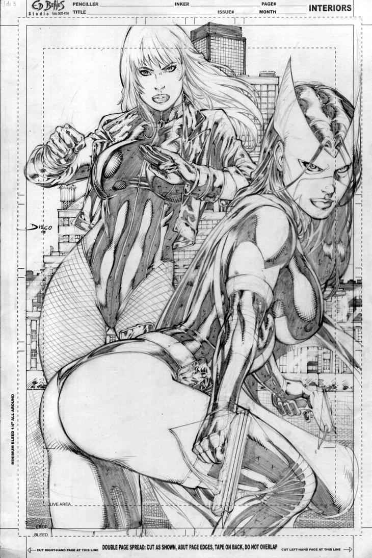 Huntress hentia nude comics