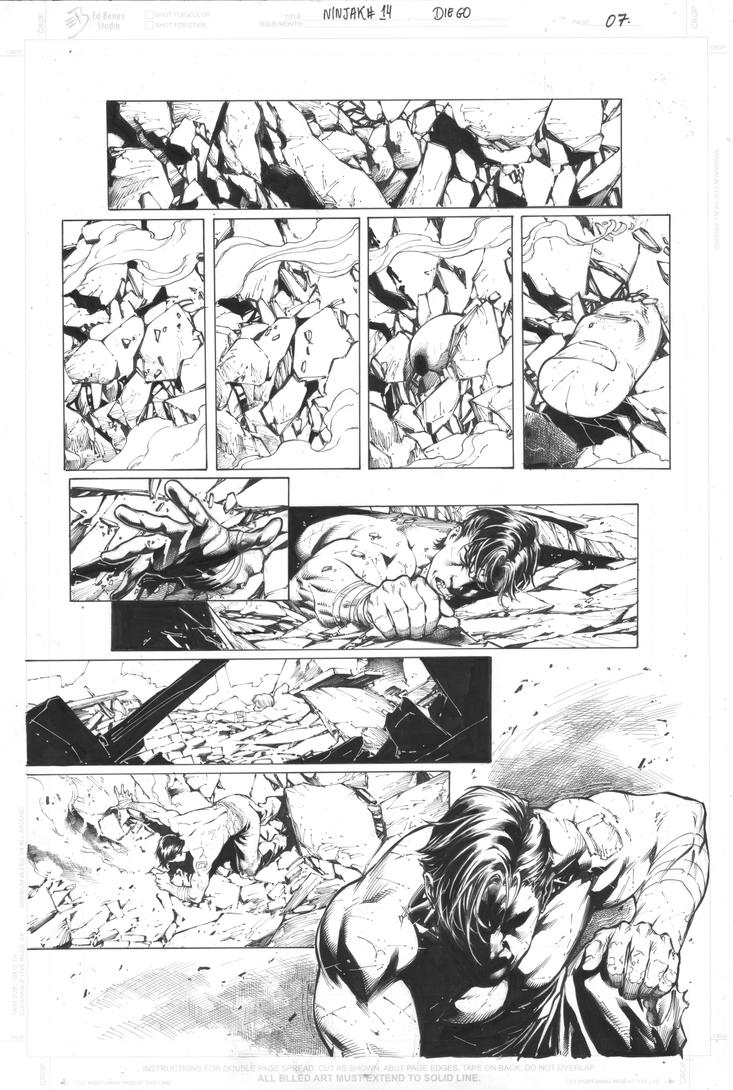 ninjak #14 page 07 inks DB b by DiegoBernard