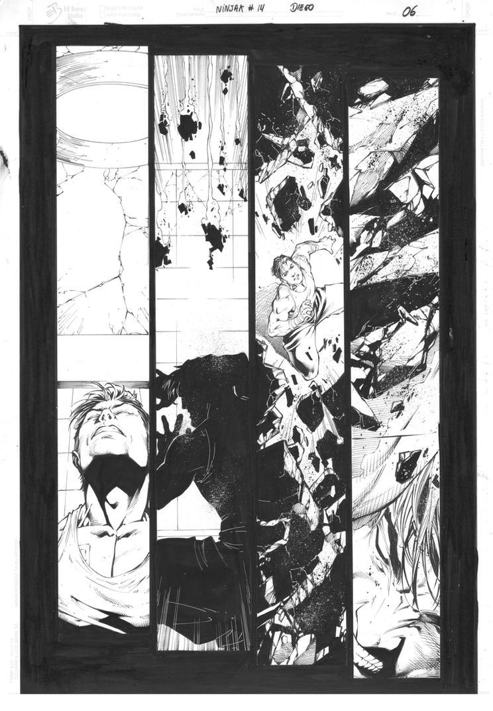 ninjak #14 page 06 inks DB b by DiegoBernard