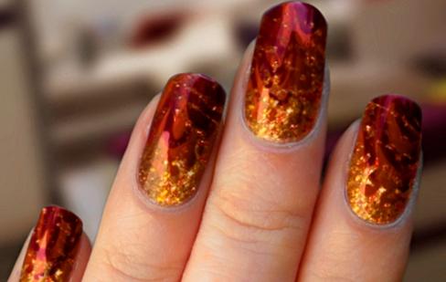 Fire Nails by cherimoyapie
