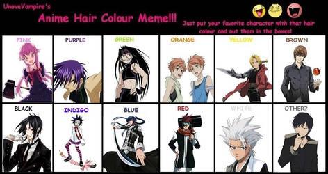 Anime Hair Color Meme