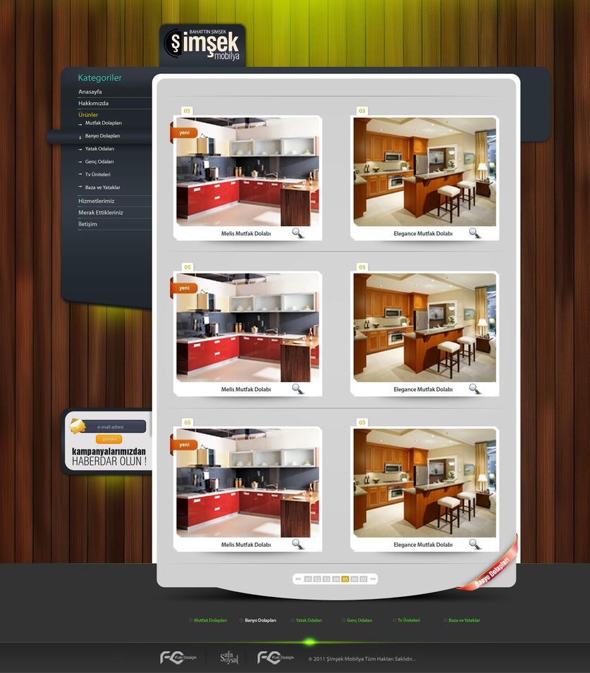 web design furniture by fukidesign