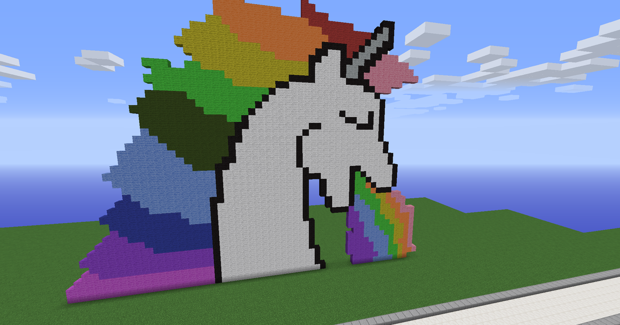 how to make a unicorn in minecraft