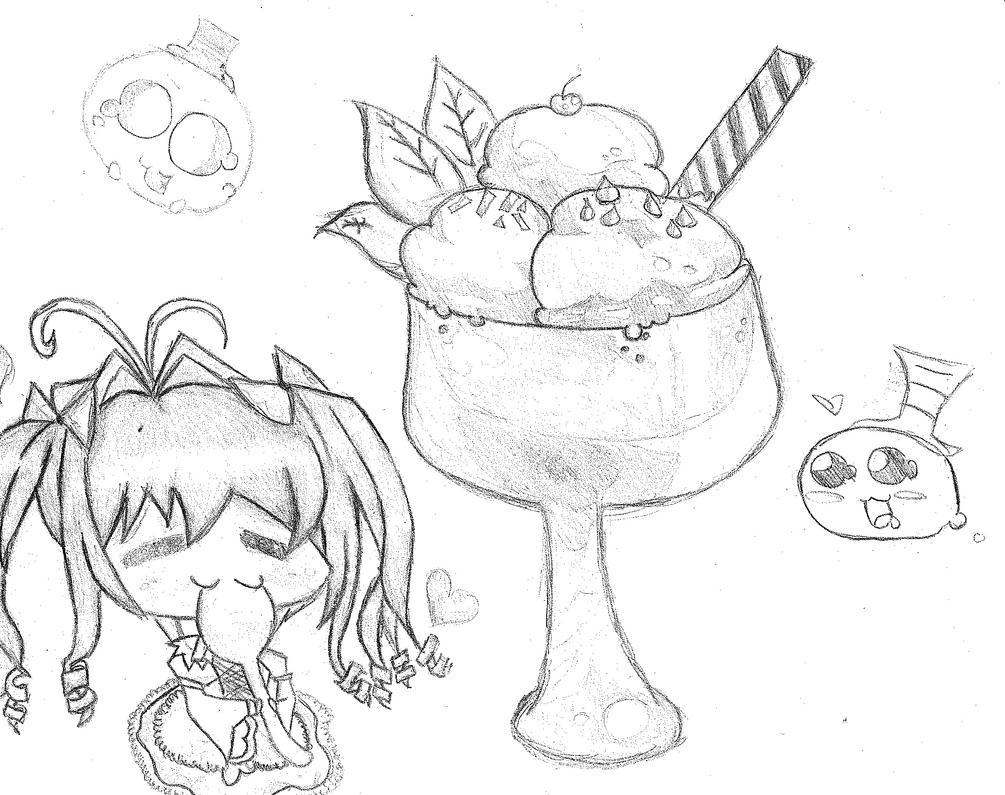 Ice Cream o u o by Hana-Miketsukami