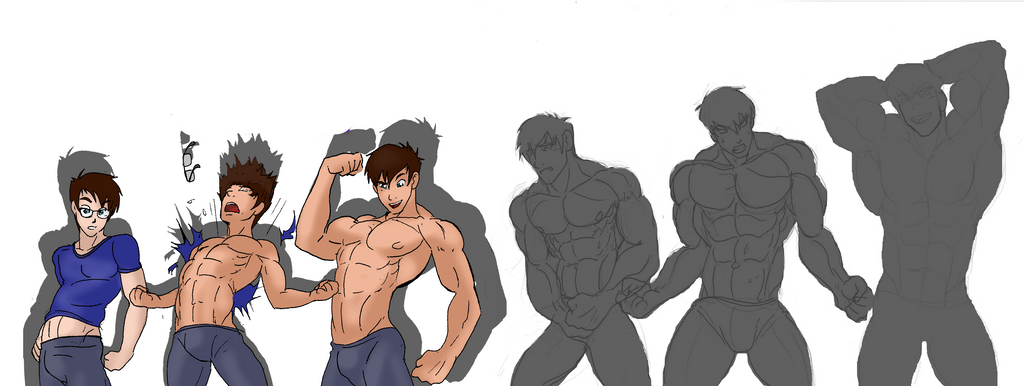 muscle growth sequence bundles by somdude424 on deviantart, Muscles