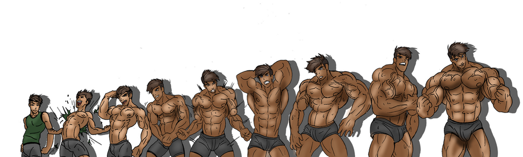 muscle growth sequence bundle by somdude424 on deviantart, Muscles