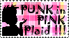 Punk in Pink Plaid Stamp by Pickleplumpie