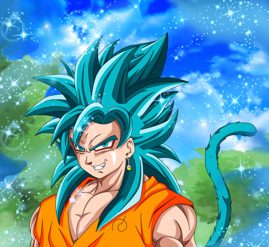 Goku SSGSS and Goku SSJ4 fusion by Majingokuable