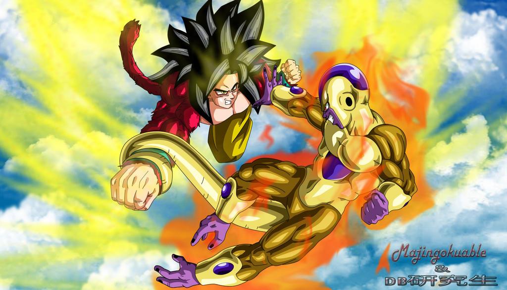 Goku Ssj4 vs Golden Freezer by Majingokuable on DeviantArt