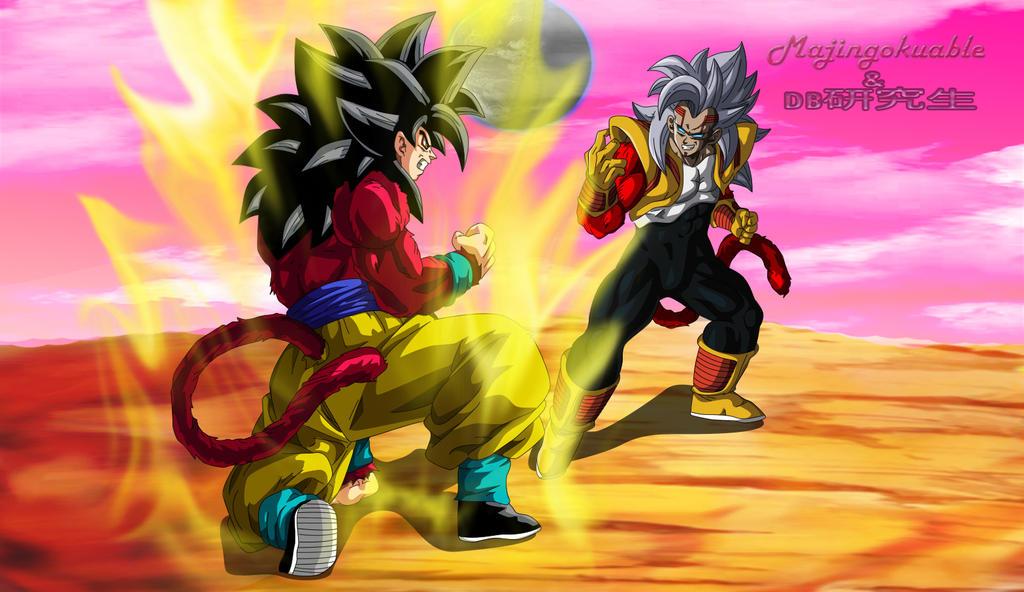 Goku ssj4 vs Baby Vegeta ssj4 v2 by Majingokuable on ...