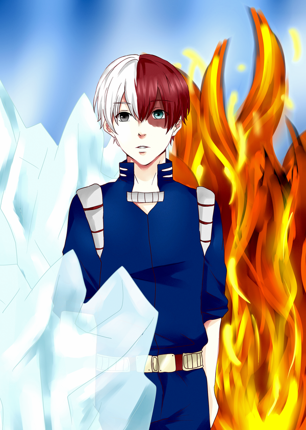 Shoto Todoroki by Aka-DenSuFreak