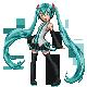 Hatsune Miku Sprite by X-5-4-5-2