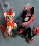 Custom plushies Autumn Blaze and Nirik alter ego