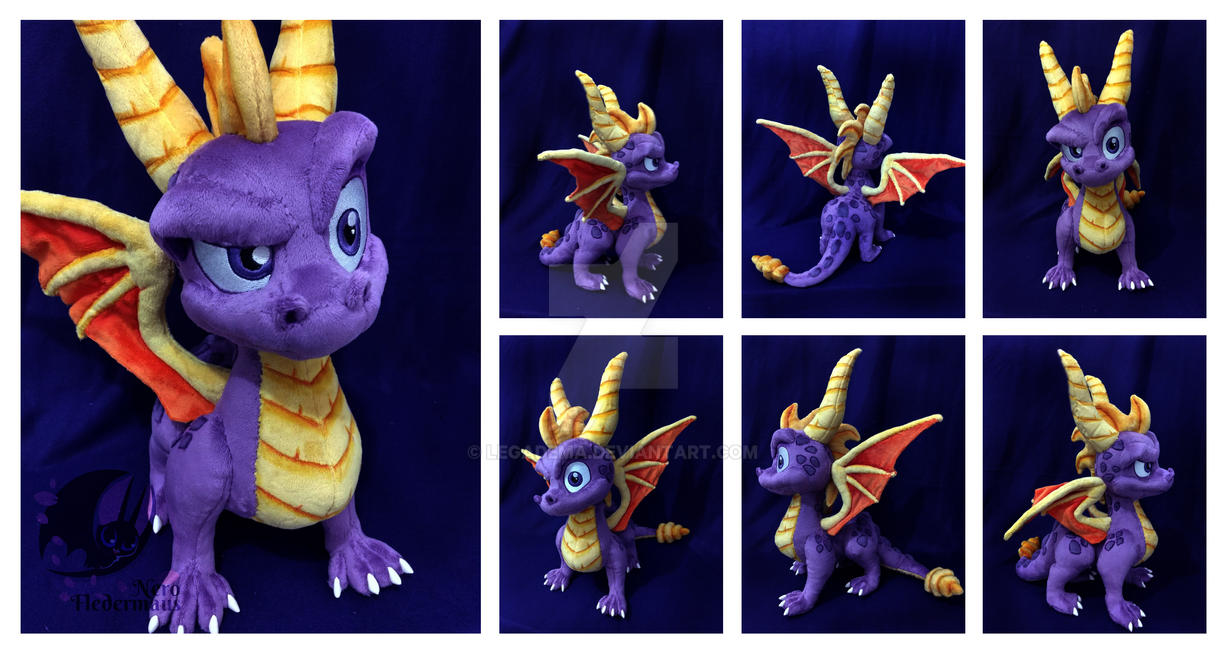 c7c87b2e8647 Spyro Custom Plush by Legadema on DeviantArt