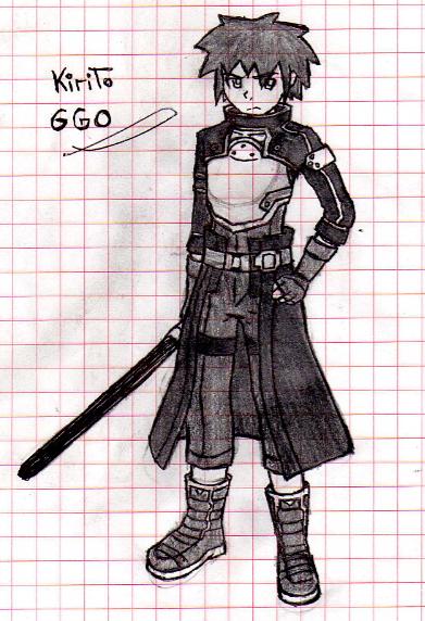 Kirito Gun Gale Online Male Version By Riumaji