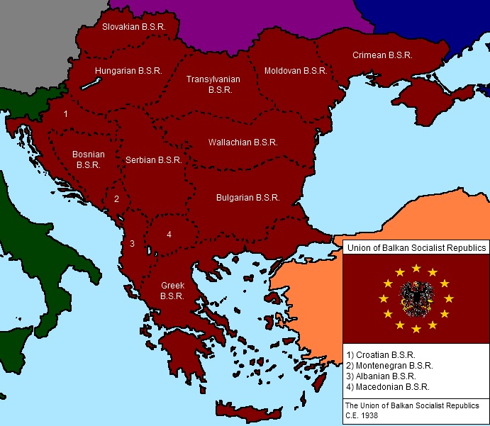 Union Of Balkan Socialist Reps By Kiatofearth On Deviantart