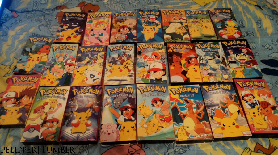 Pokemon VHS Tapes by Spufflez