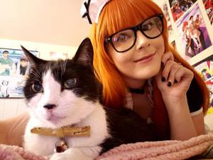 Maid Futaba and Morgana (Persona 5)