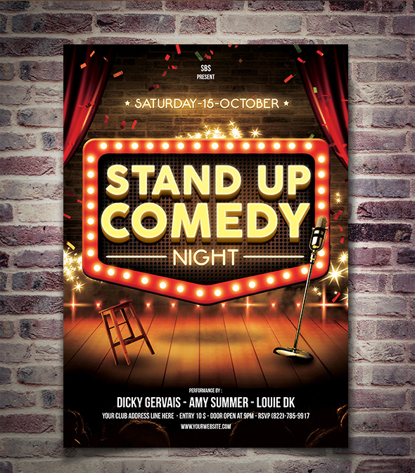 Stand Up Comedy Flyer Template By Yudha Sbs