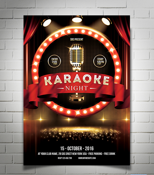 Karaoke Night FlyerPoster Template By YudhaSbs On Deviantart