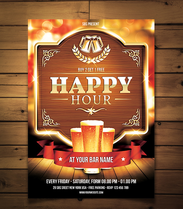 Happy Hour Flyerposter Template By Yudha Sbs On Deviantart