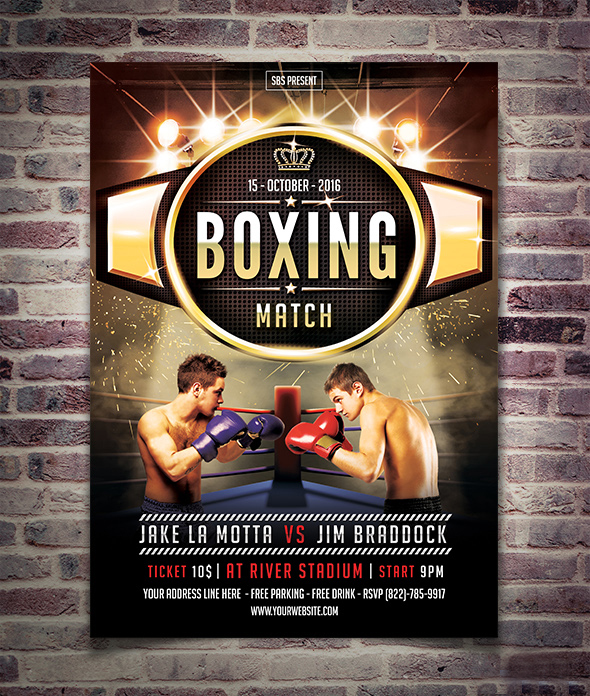 Boxing Match Flyer Poster Template By Yudha Sbs On Deviantart