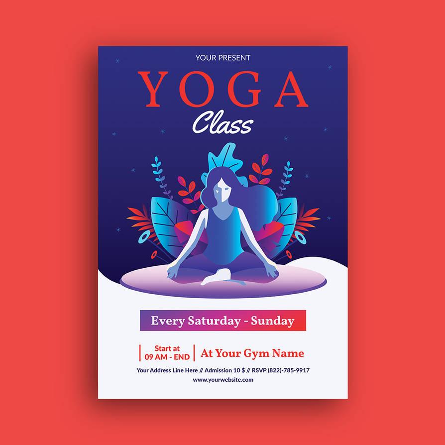 Yoga Class Flyer Template By Yudha Sbs On Deviantart