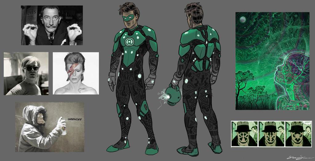 Green Lantern Redesign by SamSaxton