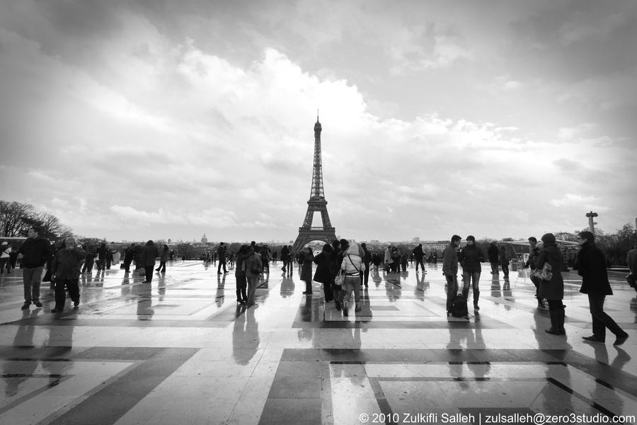 Eiffel Tower Images Black And White: Paris In Black And White By Zulsalleh On