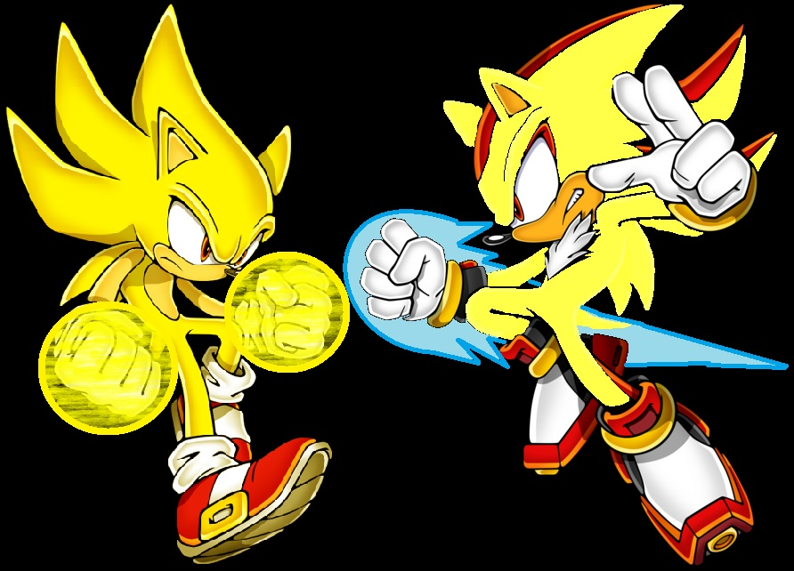 Super Sonic Vs Super Shadow by sonicmaker1999 on DeviantArt