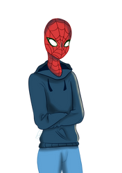 Spider in a hoodie