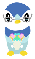 Piplup with Flowers