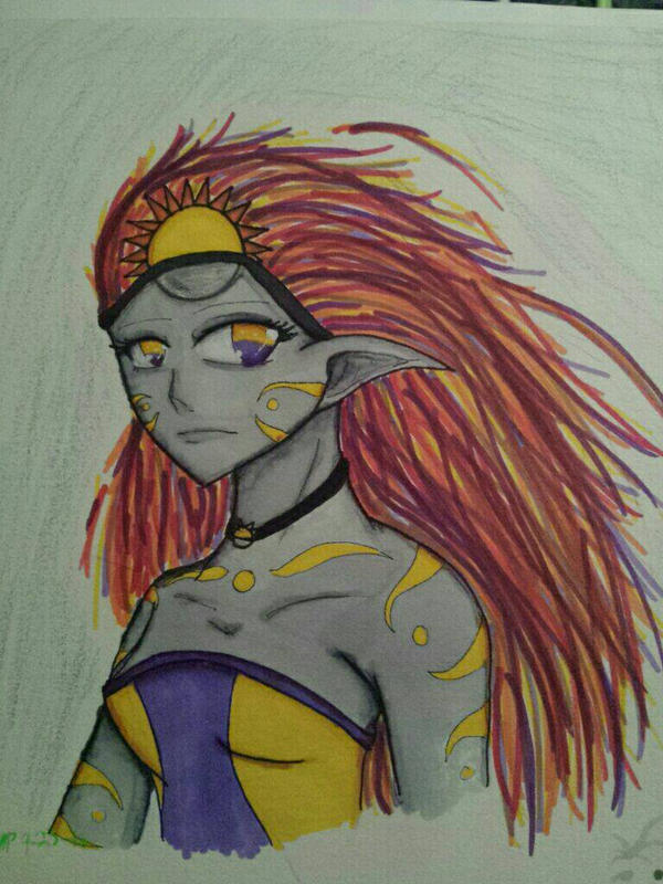 The goddess of night and day: Celuna by TheDaughterOfLink
