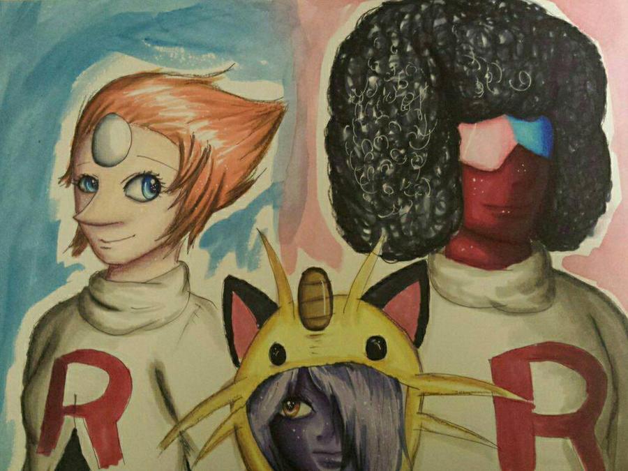 Crystal Gems team rocket cosplay (Contest entry) by AzziranArts