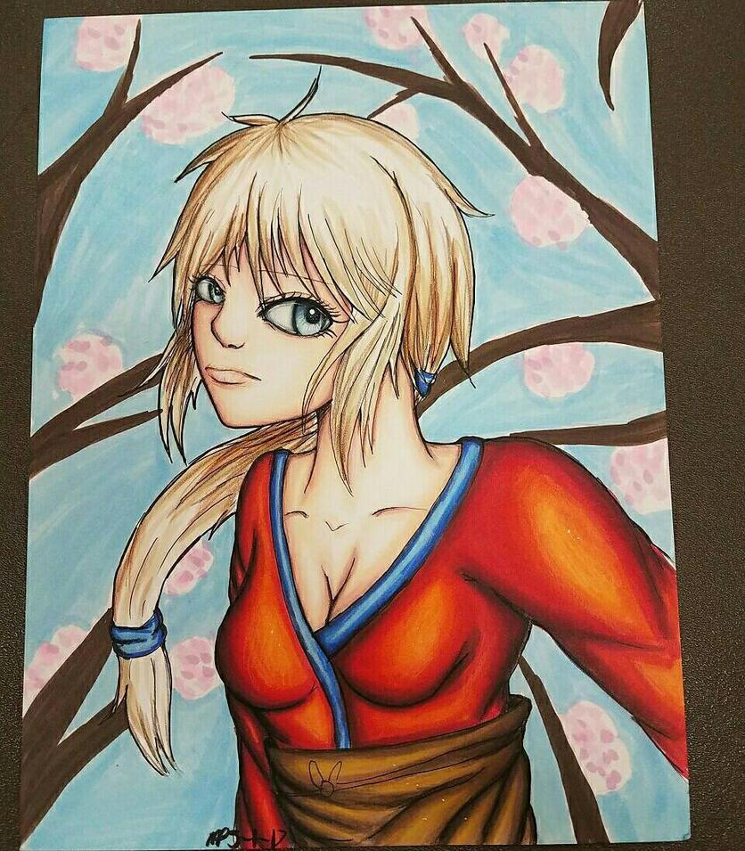 Mindi Togami kimono (Danganronpa next gen) by AzziranArts