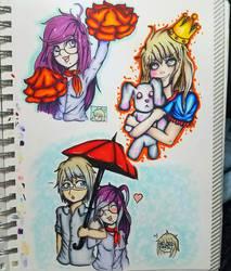 Ransom Danganronpa doodles by AzziranArts
