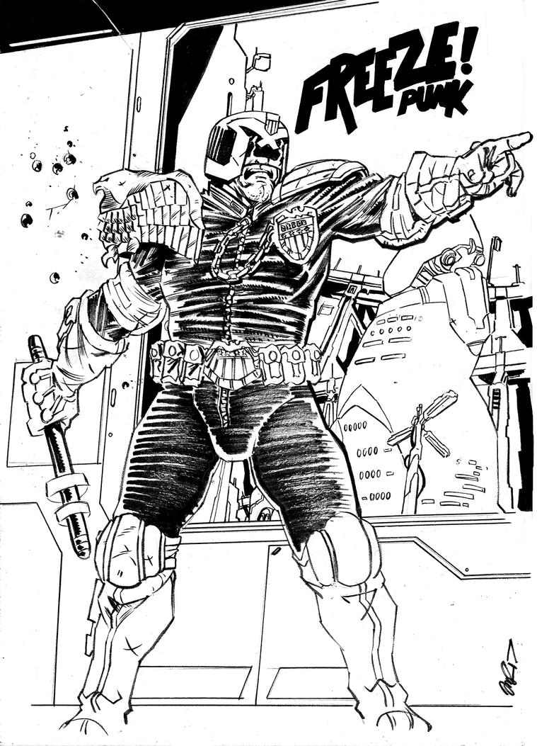 Dredd Freeze Punk by Rathan-Marxx