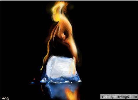 Burning Ice by Wu-doidah