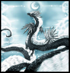 Dragon in the sky by Tuyoki