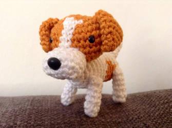 crochet dog amigurumi by astridje