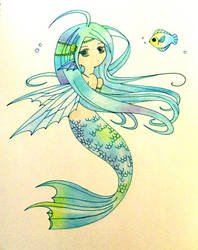 chibi mermaid by astridje