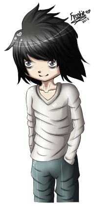 Death Note - L :D by Frostielichious