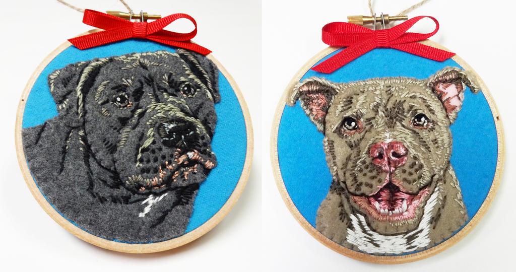 Pet Portrait Ornaments by Nosseren