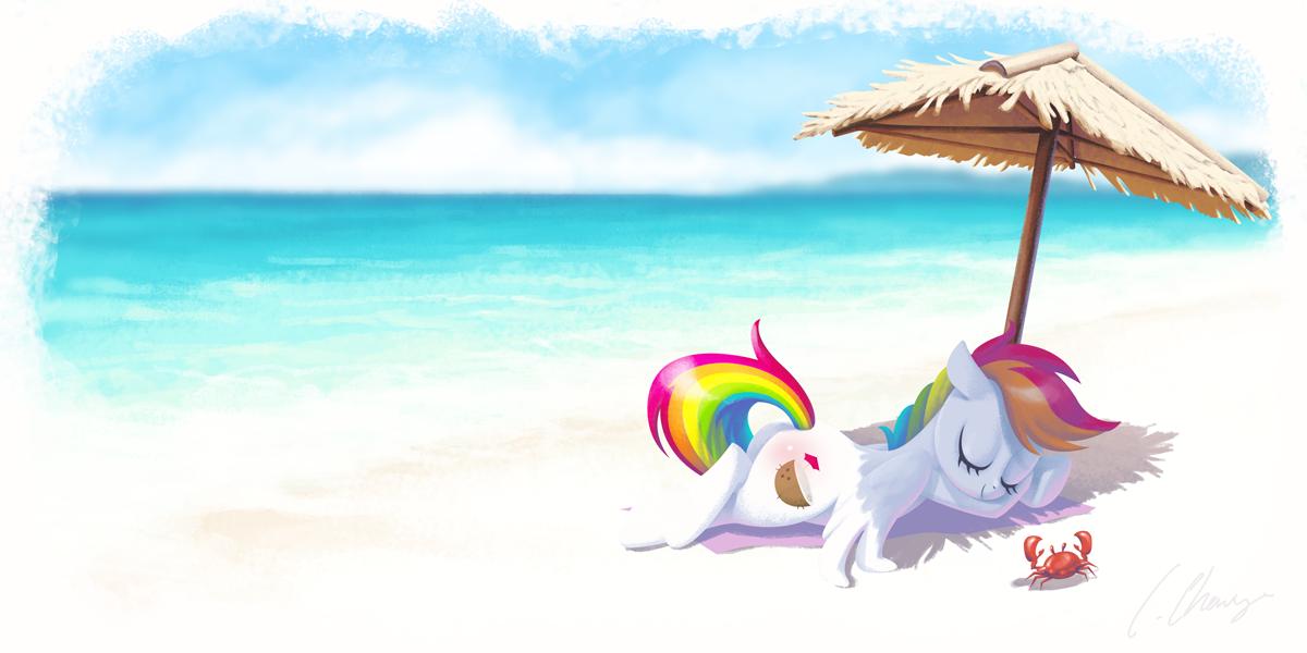 Tropical Splash at the beach by Nosseren